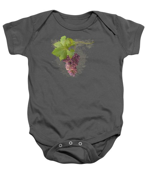 Chateau Pinot Noir Vineyards - Vintage Style Baby Onesie by Audrey Jeanne Roberts