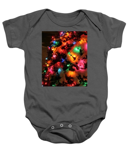 Christmas Lights Coldplay Baby Onesie by Wayne Moran