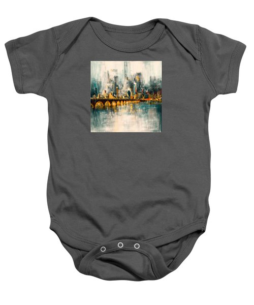 Dallas Skyline 217 3 Baby Onesie by Mawra Tahreem