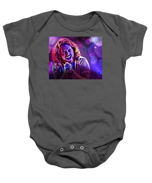Eddie Vedder Portrait Baby Onesie by Scott Wallace