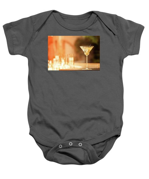 Evening With Martini Baby Onesie by Ekaterina Molchanova