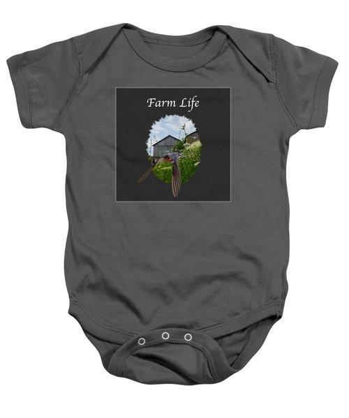 Farm Life Baby Onesie by Jan M Holden