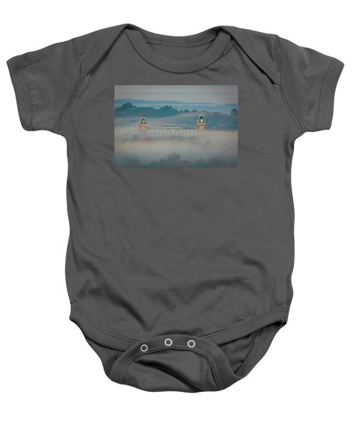 Fog At Old Main Baby Onesie by Damon Shaw
