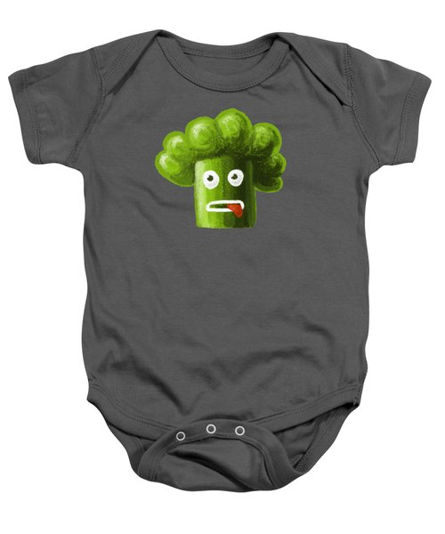 Funny Broccoli Baby Onesie by Boriana Giormova