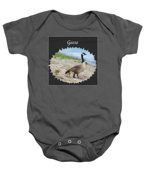 Geese In The Clouds Baby Onesie by Jan M Holden