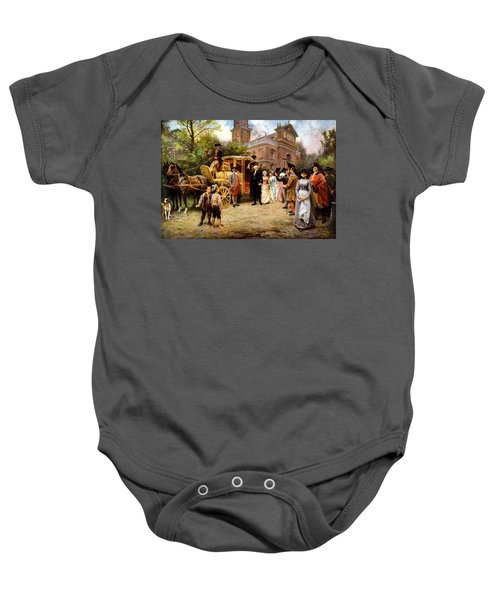 George Washington Arriving At Christ Church Baby Onesie by War Is Hell Store