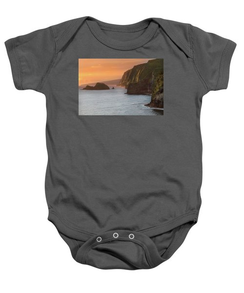 Hawaii Sunrise At The Pololu Valley Lookout 2 Baby Onesie by Larry Marshall