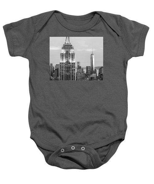 Iconic Skyscrapers Baby Onesie by Az Jackson