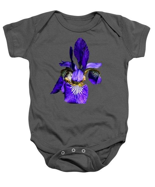 Iris Versicolor Baby Onesie by Mark Myhaver