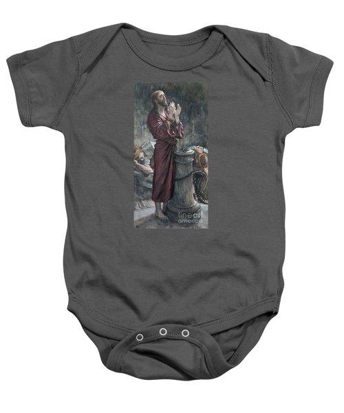 Jesus In Prison Baby Onesie by Tissot