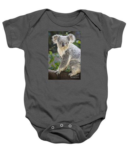 Koala Female Portrait Baby Onesie by Jamie Pham