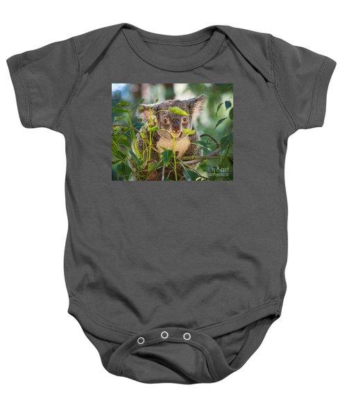 Koala Leaves Baby Onesie by Jamie Pham