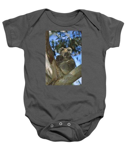 Koala Phascolarctos Cinereus Mother Baby Onesie by Konrad Wothe