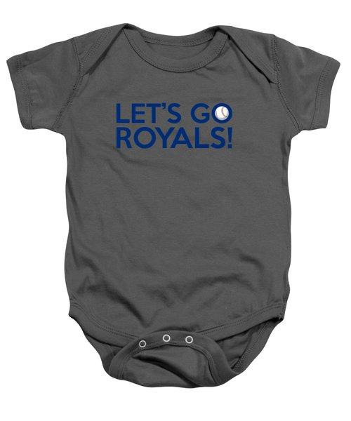 Let's Go Royals Baby Onesie by Florian Rodarte