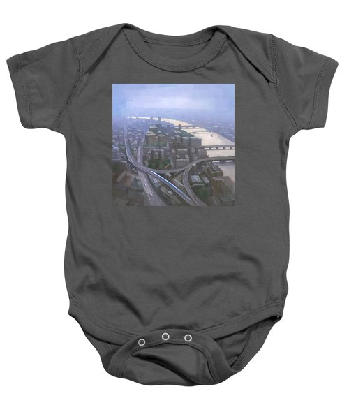 London, Looking West From The Shard Baby Onesie by Steve Mitchell