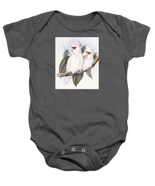 Long-billed Cockatoo Baby Onesie by John Gould