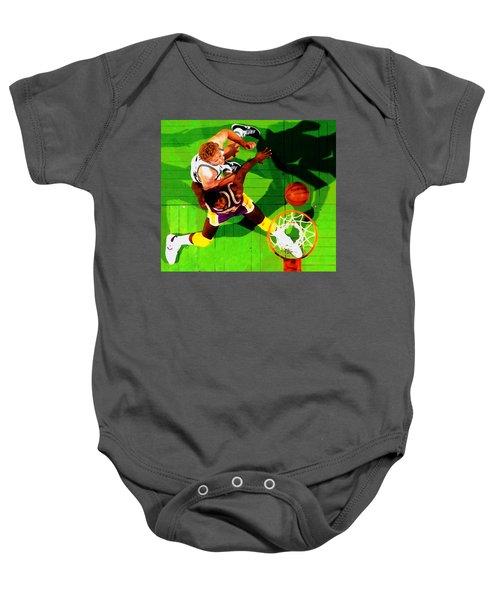Magic And Bird Baby Onesie by Brian Reaves