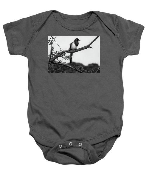 Magpie  Baby Onesie by Philip Openshaw