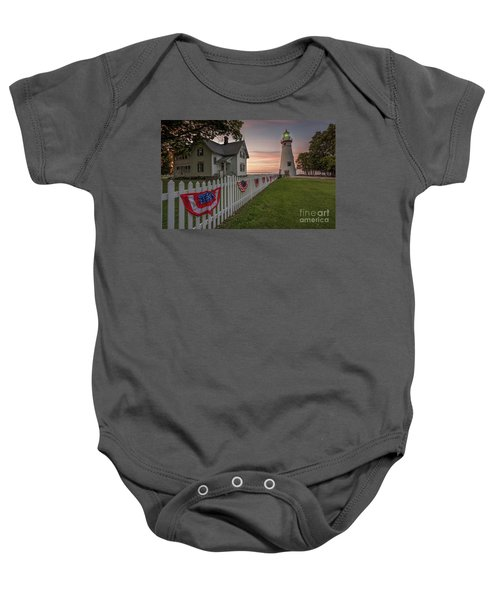 Marblehead Memorial  Baby Onesie by James Dean