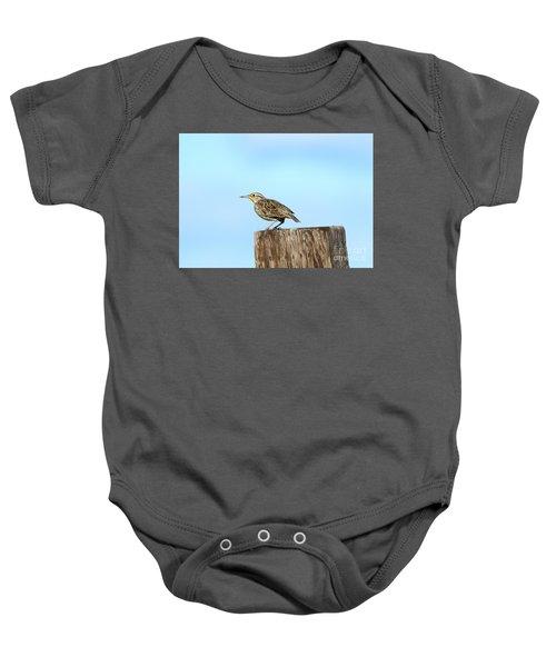 Meadowlark Roost Baby Onesie by Mike Dawson