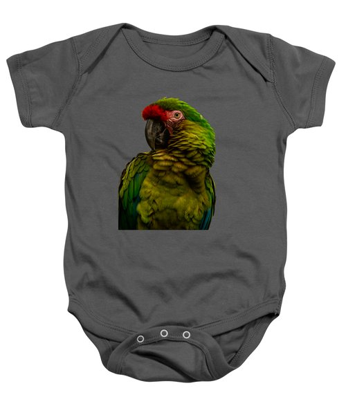 Military Macaw Baby Onesie by Zina Stromberg
