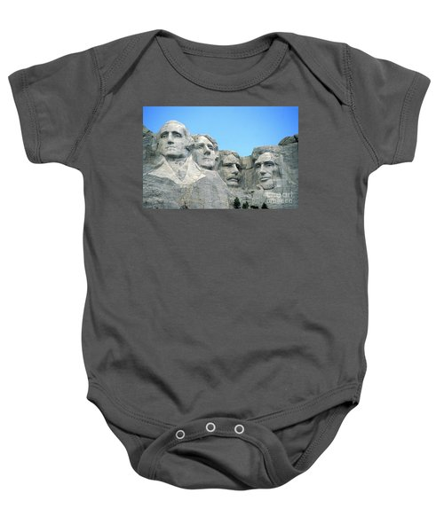 Mount Rushmore Baby Onesie by American School