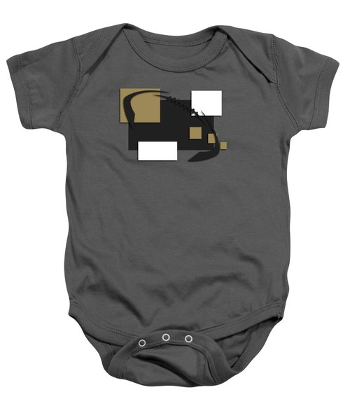 New Orleans Saints Abstract Shirt Baby Onesie by Joe Hamilton