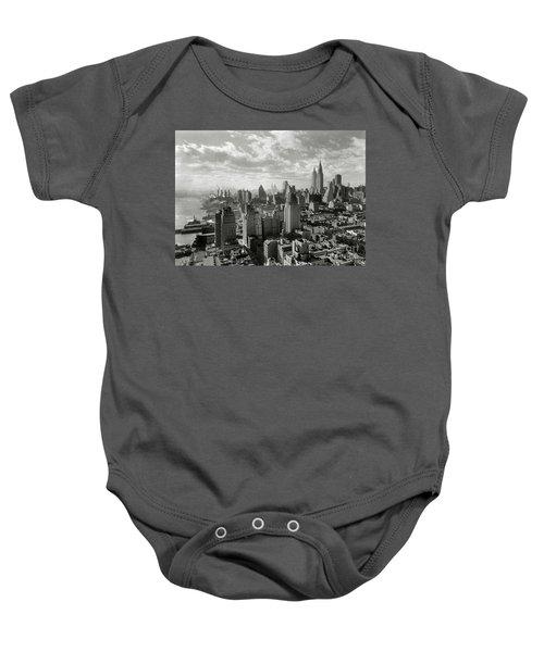 New Your City Skyline Baby Onesie by Jon Neidert