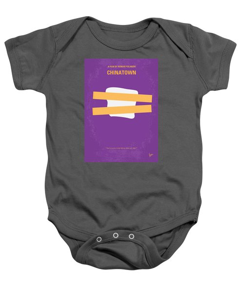 No015 My Chinatown Minimal Movie Poster Baby Onesie by Chungkong Art