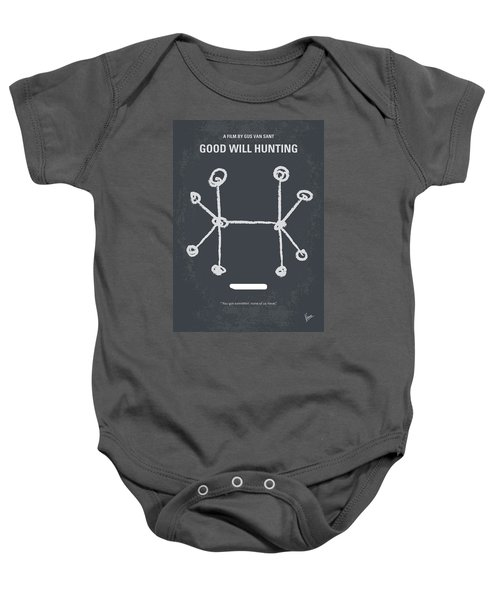 No461 My Good Will Hunting Minimal Movie Poster Baby Onesie by Chungkong Art