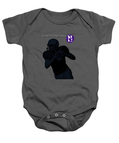 Northwestern Football Baby Onesie by David Dehner
