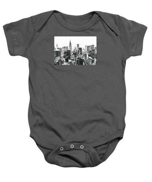 Nyc Snow Baby Onesie by Vivienne Gucwa
