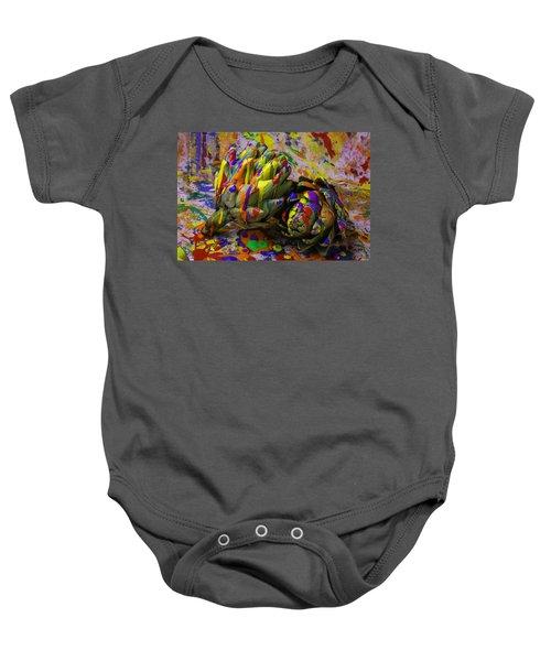 Painted Artichokes Baby Onesie by Garry Gay