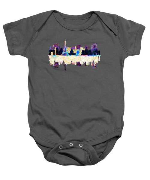 Paris France Fantasy Skyline Baby Onesie by John Groves