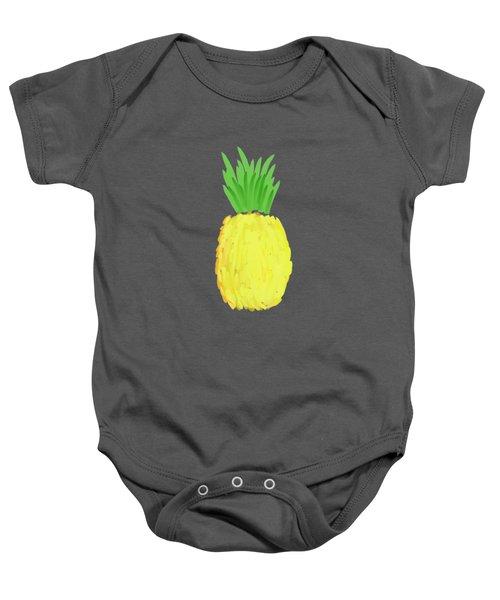 Pineapple Baby Onesie by Priscilla Wolfe