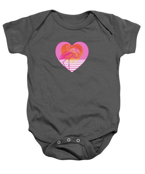Pink Flamingos Baby Onesie by Eclectic at HeART