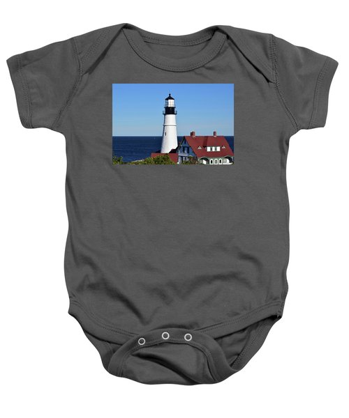 Portland Head Light No. 103 Baby Onesie by Sandy Taylor