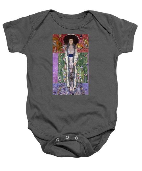 Portrait Of Adele Bloch-bauer II Baby Onesie by Gustav Klimt