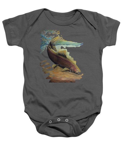 Rainbow Trout Trans Baby Onesie by Kimberly Benedict