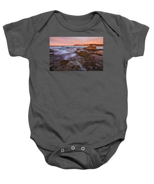 Red Dawning Baby Onesie by Mike  Dawson