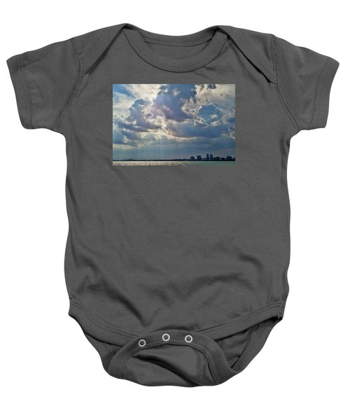 Riding In The Storm Baby Onesie by Camille Lopez