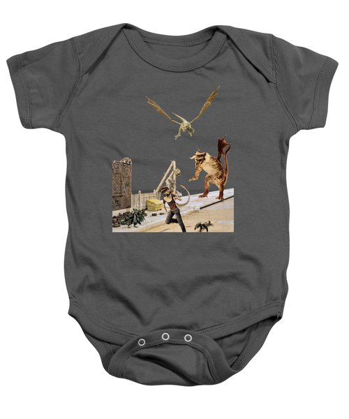 Running From My Problems Baby Onesie by Methune Hively