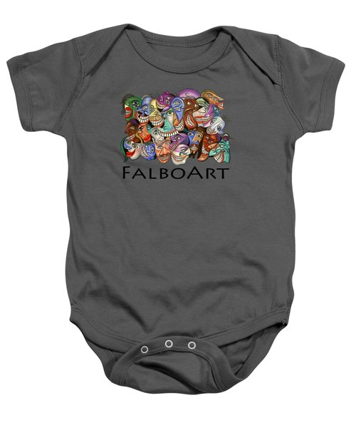 Say Cheese T-shirt Baby Onesie by Anthony Falbo