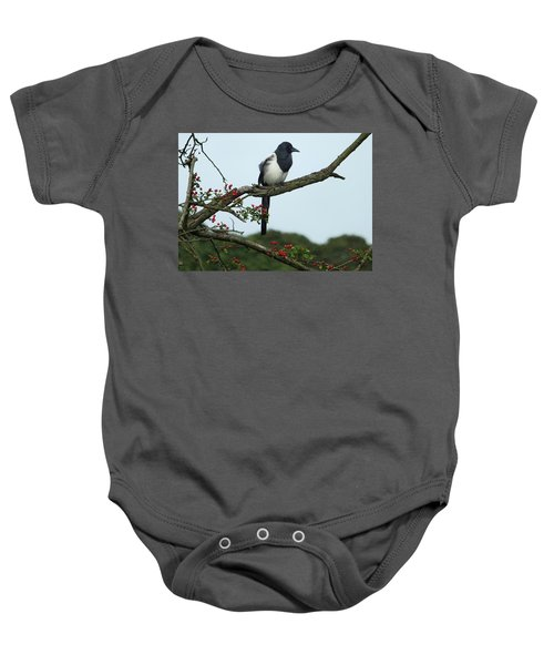 September Magpie Baby Onesie by Philip Openshaw