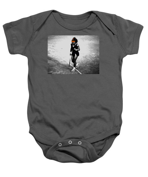 Serena Williams Match Point 3a Baby Onesie by Brian Reaves
