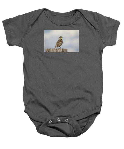 Singing A Song Baby Onesie by Thomas Young