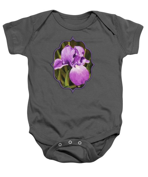 Single Iris Baby Onesie by Anastasiya Malakhova