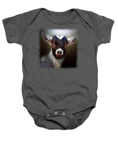 Skippy - Goat Portrait Baby Onesie by Linda Koelbel