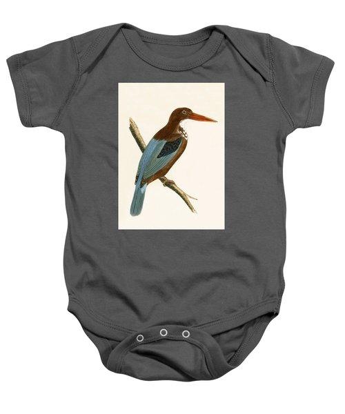 Smyrna Kingfisher Baby Onesie by English School