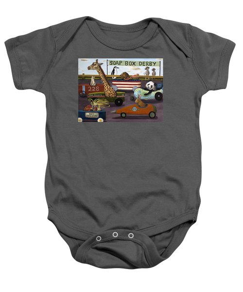 Soap Box Derby Baby Onesie by Leah Saulnier The Painting Maniac